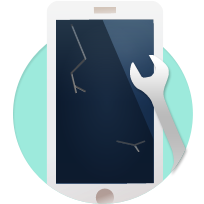 iPhoneガラス割れ修理部品交換